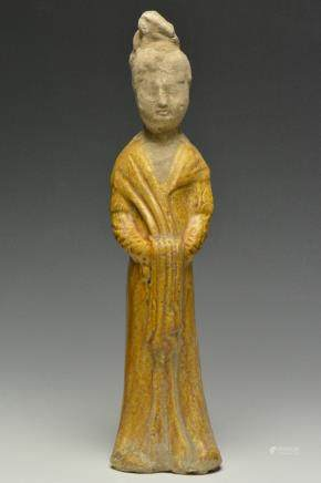 An Amber-Glazed Pottery Figure, Tang Dynasty
