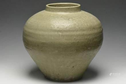 A Celadon-Glazed Jar, Yuan Dynasty