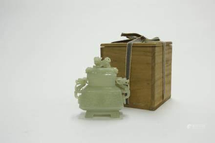 夔龍饕餮紋鼎式爐