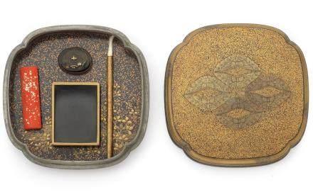 A lacquer miniature suzuribako Edo Period