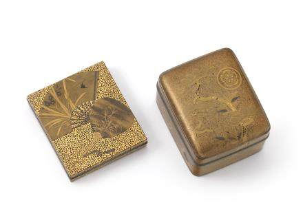 Two lacquer incense boxes 19th century