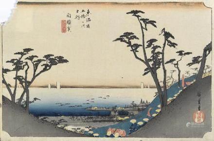 Utagawa Hiroshige (1797-1858) and Shosai Ikkei (ca. 1870s)