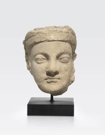 A stucco head of a man Ancient region of Gandhara, 4th/5th century