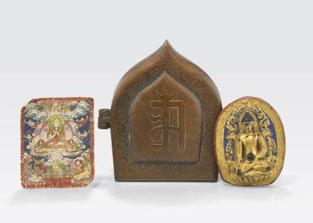 A group of Vajrayana religious objects Tibet, 19th century