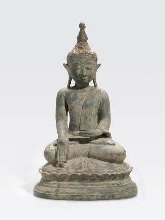 A bronze seated Buddha Burma, Shan state, 17th/18th century