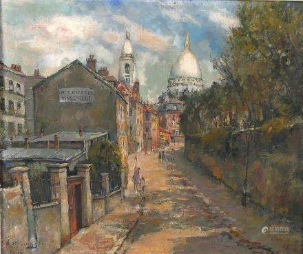 Verbrugghe C. 'Paris', view on Montmartre, oil on canvas marouflated on panel, 44,5 x 52,5 cm