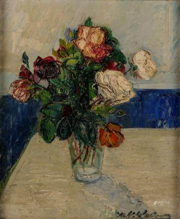 Wolvens H.V., still life with flowers, oil on canvas, 50 x 60 cm