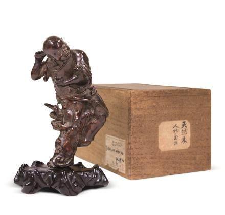 清木根形雕人物