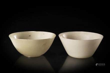 清 十九世紀 青玉小碗 兩件