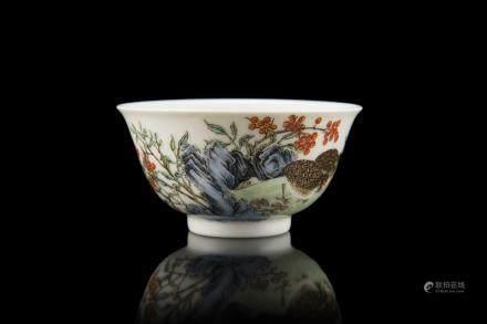 中國 二十世紀 雍正仿款 琺琅彩茶杯