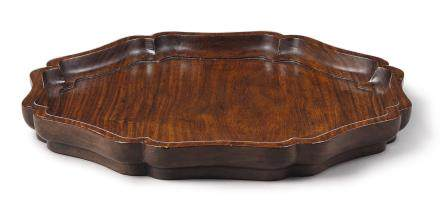 A 'HUANGHUALI' OCTAGONAL TRAY LATE MING DYNASTY