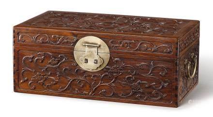 A 'HUANGHUALI' BOX EARLY QING DYNASTY