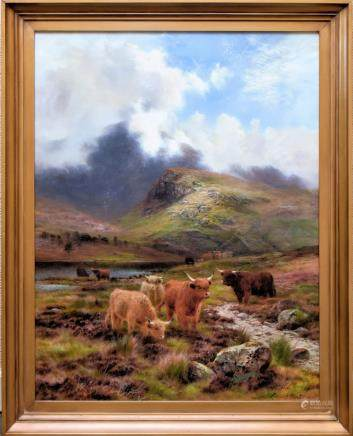 LOUIS BOSWORTH HURT (1856–1929), MY HIGHLAND FOLD, OIL
