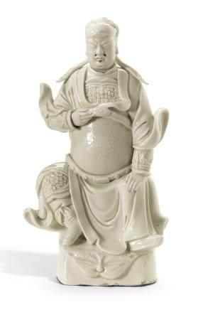 清十七/十八世紀 德化白釉關帝坐像