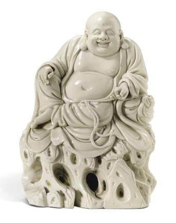 十七世紀 德化白釉布袋佛坐像