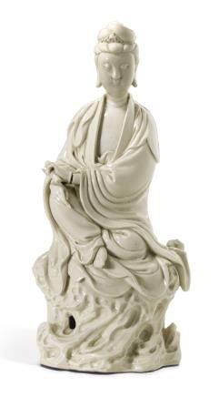 清十七/十八世紀 德化白釉觀音坐像