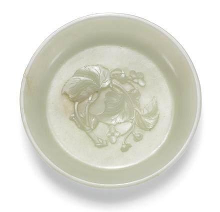 清乾隆 白玉花卉紋洗