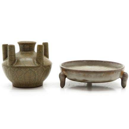 China Porcelain Censer and Vase