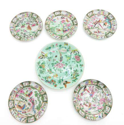 Lot of 6 China Porcelain Plates