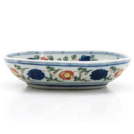 China Porcelain Famille Verte Decor Plate