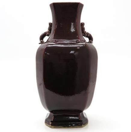 China Porcelain Flambe Decor Vase