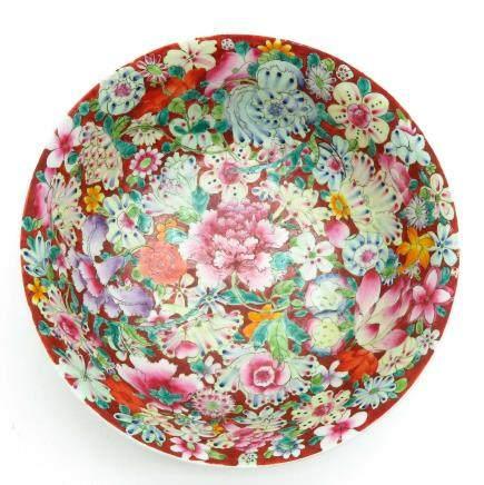 China Porcelain Mille Fleur Decor Bowl