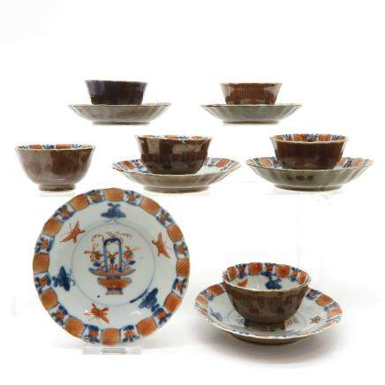 Lot of 6 18th Century China Porcelain Cups and Saucers