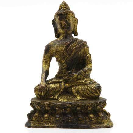 Gold Gilt Buddha Sculpture