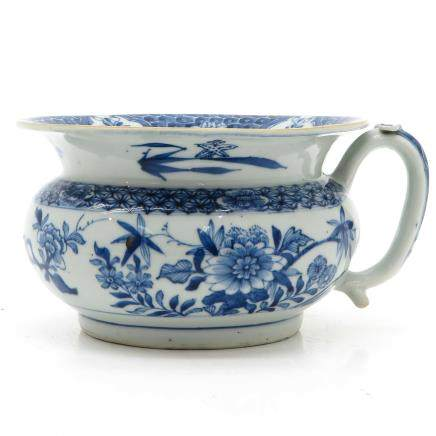 18th Century China Porcelain Chamber Pot