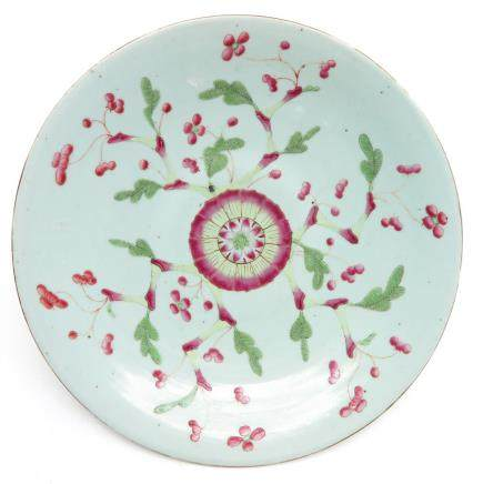 China Porcelain Polychrome Decor Plate