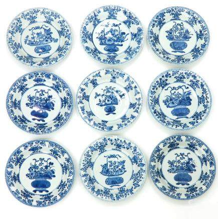 Lot of 9 18th Century China Porcelain Plates
