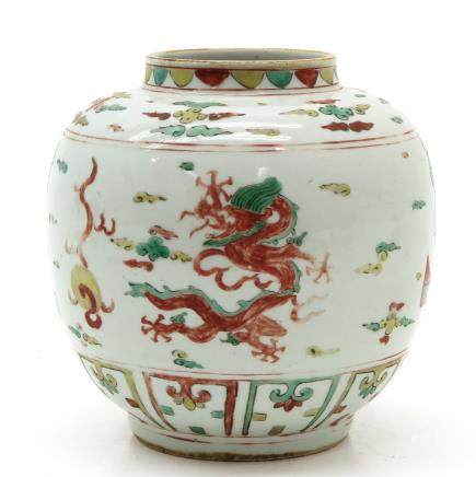 China Porcelain Ginger Jar