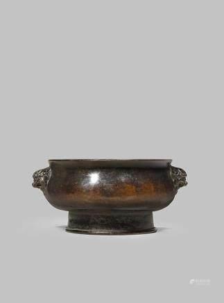 十七/十八世紀 銅製獅耳銅爐