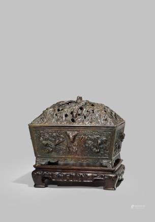 十七世紀 銅製五龍紋爐