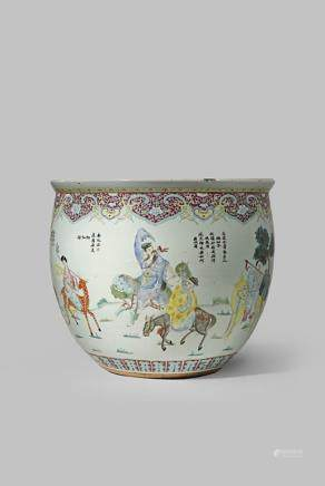 十九世紀 粉彩八仙紋大缸