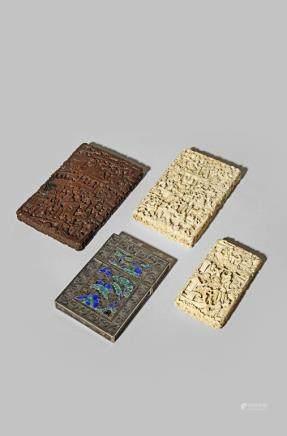 λ FOUR CHINESE CARD CASES