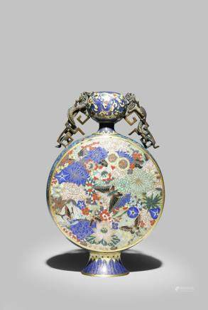 A CHINESE CLOISONNÉ MOONFLASK