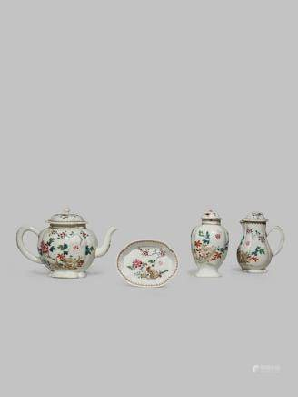 A CHINESE FAMILLE ROSE PART TEA SERVICE