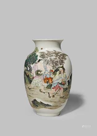 A SMALL CHINESE OVOID VASE