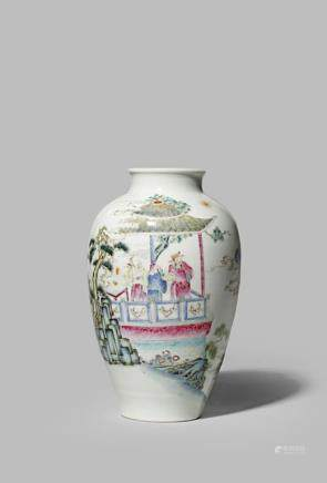 A CHINESE FAMILLE ROSE 'IMMORTALS' VASE