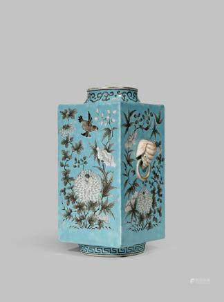 A CHINESE 'DOWAGER EMPRESS' PATTERN CONG-SHAPED VASE