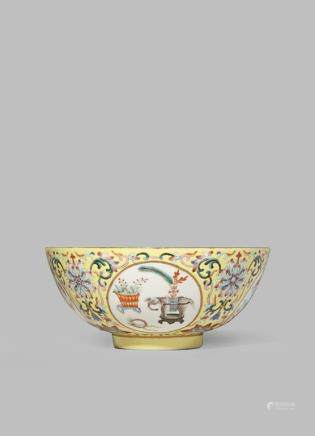 A CHINESE 'MEDALLION ' BOWL