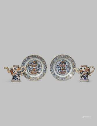 TWO CHINESE IMARI PLATES FROM THE COLLECTION OF AUGUSTUS THE STRONG