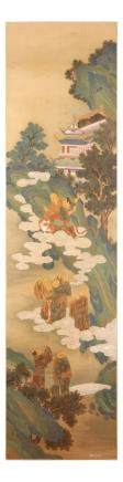 "ZHAO LINGRANG   (follower of, c. 1070 €"" after 1100) Buddhist scenes ink and colour on paper,"