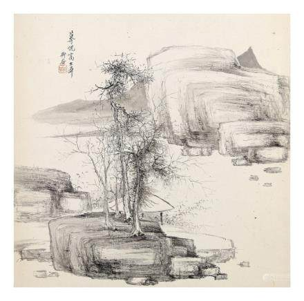 YANG NIANBO Landscapes ink on paper,