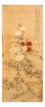 "YUN SHOUPING   (follower of, 1633 €"" 1690) Flowers ink and colour on paper,"