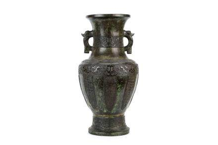 A LARGE CHINESE BRONZE VASE