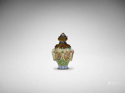 A Chinese miniature painted enamel snuff bottle