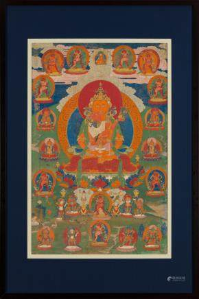 A thangka of Amitayus and consort