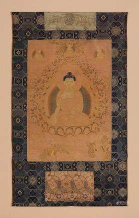 A rare silk thangka of Ratnagni Buddha